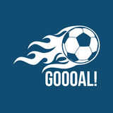 Football vector logo Stock Images