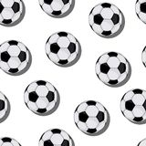 Football vector seamless pattern Stock Images