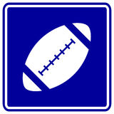 Football vector sign Royalty Free Stock Image