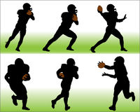 Football Vector Silhouettes Stock Photos