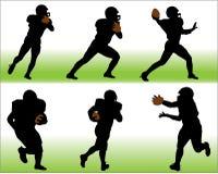 Football Vector Silhouettes Stock Photos