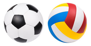 Football and volleyball Royalty Free Stock Image