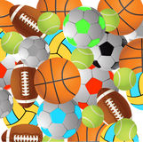 Football, volleyball, tennis,Rugby football balls Royalty Free Stock Images