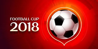 Football wallpaper, Soccer cup color pattern with modern and traditional elements, world championship 2018, Russia trend. Background, vector illustration Royalty Free Stock Images