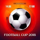 Football wallpaper, Soccer cup color pattern with modern and traditional elements, world championship 2018, Russia trend. Background, vector illustration Royalty Free Stock Photography