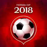 Football wallpaper, Soccer cup color pattern with modern and traditional elements, world championship 2018, Russia trend. Background, vector illustration Royalty Free Stock Photo