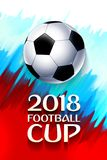 Football wallpaper, Soccer cup color pattern with modern and traditional elements, world championship 2018, Russia trend. Background, vector illustration Stock Photography