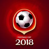 Football wallpaper, Soccer cup color pattern with modern and traditional elements, world championship 2018, Russia trend. Background, vector illustration Stock Image