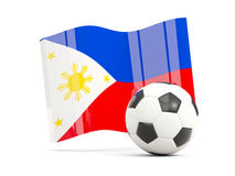 Football with waving flag of philippines isolated on white Stock Photography