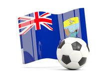 Football with waving flag of saint helena isolated on white Stock Images
