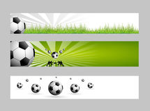Football web banners Stock Image