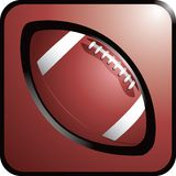 Football web button. Brown web button with picture of a football Royalty Free Stock Photo