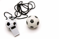 Football whistle Royalty Free Stock Photography