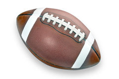 Football. With white laces on white background Stock Images