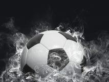 Football - white smoke effect royalty free stock images