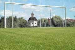 Football wicket stock image