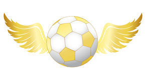 Football with wings stock illustration