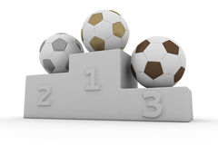 Football winners Royalty Free Stock Image
