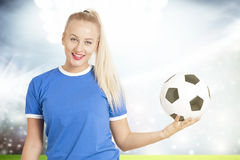 Football woman Royalty Free Stock Image