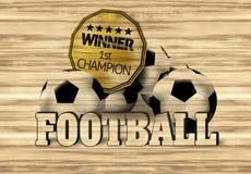 Football Wood Design. Creative Illustration Graphic Royalty Free Stock Image