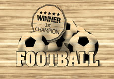 Football Wood Design. Creative Illustration Graphic Stock Photos