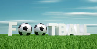 ''Football'' word Royalty Free Stock Photography