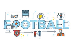 Football word lettering Stock Photos