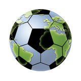 Football World. A football in a world globe shape Royalty Free Stock Image