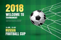 Football 2018 world championship background of soccer sport desi. Gn. Use for web banner, ads, poster, brochure, flyer, cover, cards, invitations Stock Photos