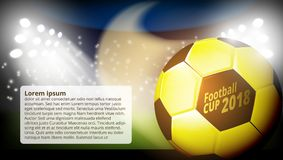 Football World Championship Cup Abstract Background. EPS10 Vector Royalty Free Stock Photo