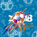 Football 2018 world championship cup background soccer. Vector illustration Stock Images