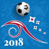 Football 2018 world championship cup background soccer. Vector illustration Royalty Free Stock Images