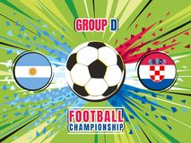 Football world championship match template. Argentina vs Croatia. Group D. Color vector illustration Stock Photos