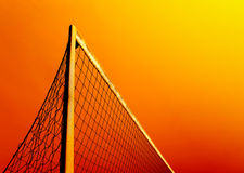 Football World Cup Africa. Concept picture of golden South African sunset over football soccer net Stock Image
