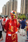 Football World Cup Asian zone qualifying in Baoan Shenzhen stadium held Stock Photography