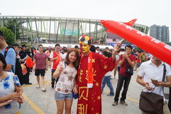 Football World Cup Asian zone qualifying in Baoan Shenzhen stadium held Stock Photo