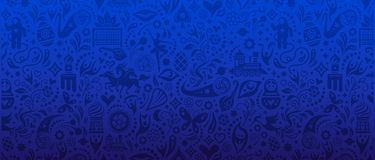 Football Cup Banner. An unofficial vector Football Cup banner Royalty Free Stock Images