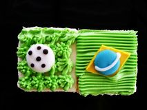 Football World Cup Brazil Cake. This is a Football World Cup Brazil Cake royalty free stock images
