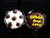 Football World Cup Brazil Chocolate Cake. This is a Football World Cup Brazil Chocolate Cake royalty free stock photos