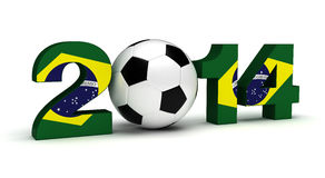 2014 Football World Cup. (computer generated image Stock Photography