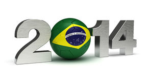 2014 Football World Cup. (computer generated image Royalty Free Stock Image