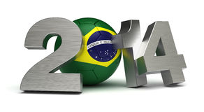 2014 Football World Cup. (computer generated image Stock Images