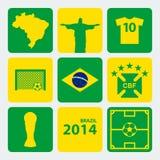 Football World Cup vector illustration. Football World Cup in Brazil vector illustration royalty free illustration