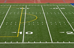 Football Yard Lines Stock Photography
