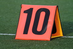 Football yard marker Stock Photo