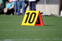 Football yard marker Stock Photos