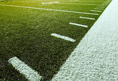 Football with Yardage Marks Stock Photography