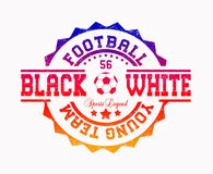 `football young team`, `black white`, `sports legend` vector illustration