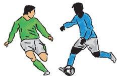 footballer Arkivfoto