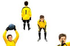 footballer Royaltyfri Foto